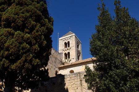 alt: Romanesque monastery of Santa Maria de Vilabertran, Alt Emporda, Girona province, Spain
