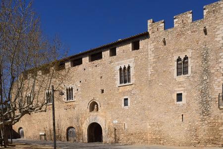 alt: Palace abbot at the Monastery of Santa Maria de Vilabertran, Alt Emporda, Girona province, Spain Editorial