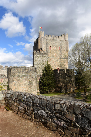 os: Walls and Castle and houses in the fortress of Braganca,Tras os Montes,Portugal