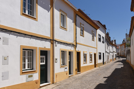 alter: Street and houses, Alter Do Chao, Beiras region, Portugal,