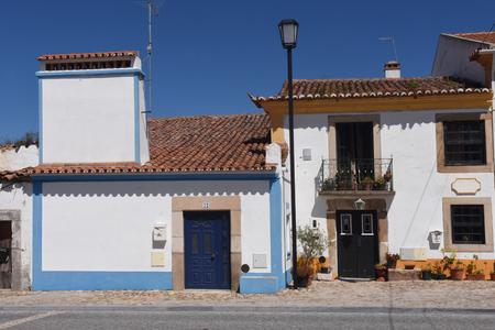 da: Typical house with fireplace in the village of Flor da Rosa, Crato, Alentejo region, Portugal