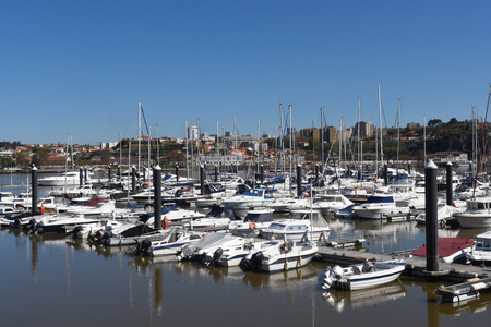 douro: Marina in the Douro river, Porto, Portugal