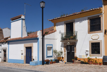flor: Typical house with fireplace in the village of Flor da Rosa, Crato, Alentejo region, Portugal