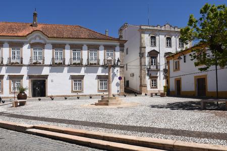 alentejo: Square in  Crato, Alentejo region, Portugal