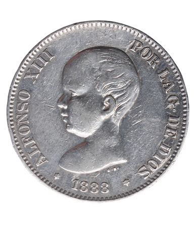 duro: Alfonso XIII, five pesetas, 1888, Spain