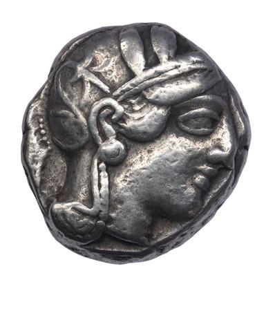 athena: Tetradrachm of Athens, IV century BC Front: head of Pallas Athena Stock Photo