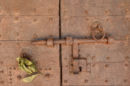 latch: Old latch Stock Photo