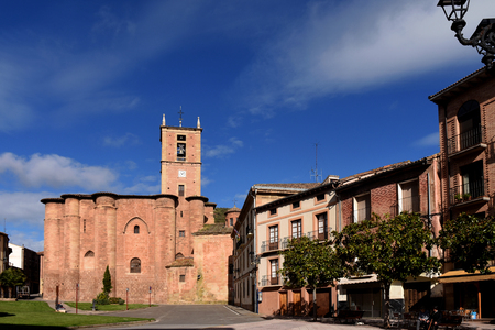 rioja: Santa Maria La Real Monastery, Najera, Way of St. James. La Rioja. Spain Editorial