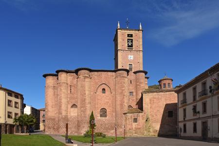 way of st  james: Santa Maria La Real, Monastery, Najera, Way,St. James. La Rioja. Spain Editorial
