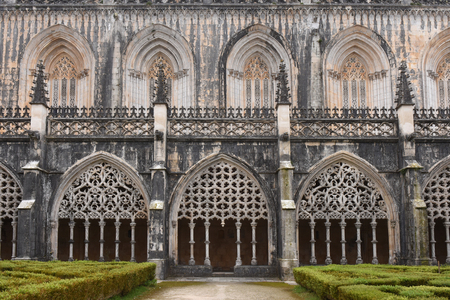 Cloister of the Monastery of Santa Maria da Vitoria, Batalha, Centro region, Portugal Stock Photo