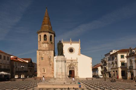ribatejo: Church of Saint John the Baptist, Square, Tomar, Estremadura, Ribatejo, Portugal, Editorial