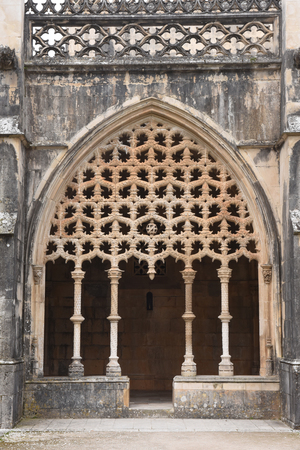 vitoria: Detail of cloister of the Monastery of Santa Maria da Vitoria, Batalha, Centro region, Portugal