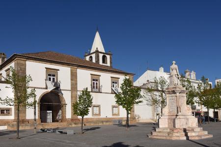 Square of Pedro V ,Castelo de Vide, Alentejo region, Portugal Editorial