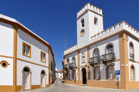 alter: Street anf stately homes, Alter Do Chao, Beiras region, Portugal