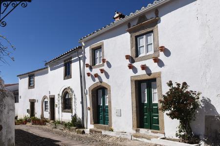 alentejo: Houses within the castle walls of Marvao, Alentejo region, Portugal