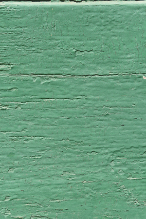 painted wood: Old wood painted with enamel paint green