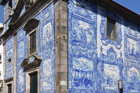 Capela das Almas church and  its walls which are covered with tiles,Oporto,Portugal Banco de Imagens