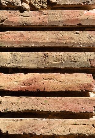 brownstone: Old brick wall