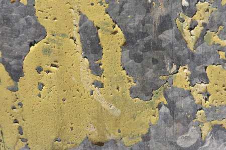 chipping: Galvanized metal paint chipping