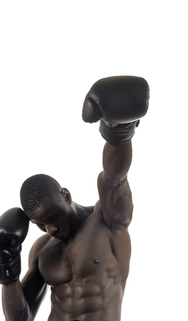 hitting: man hitting boxing Stock Photo
