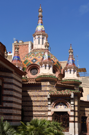 Roma: Sant Roma church in Lloret de Mar, Costa Brava, Girona province,Spain (modernist style)