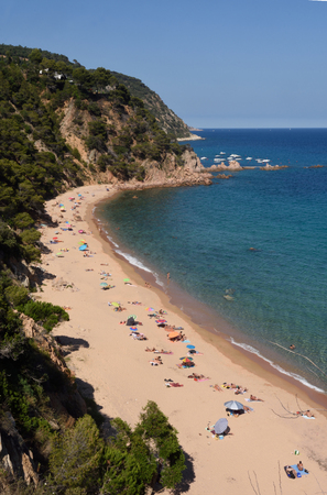Senyor Ramon Beach in Santa Cristina d Aro, Costa Brava, Girona province,Spain