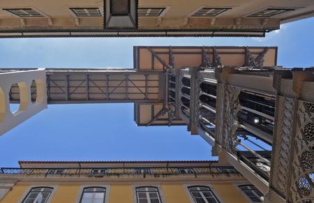 justa: Santa Justa Lift, Lisbon, Portugal Stock Photo