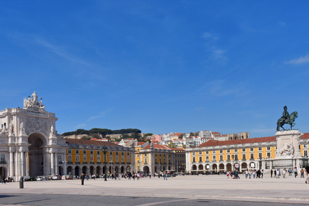 commerce: Commerce Square in Lisbon, Portugal Editorial