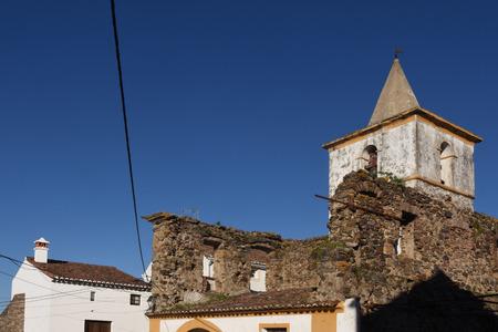 Church within the walls of the castle, Castelo de Vide, Alentejo region, Portugal Editorial