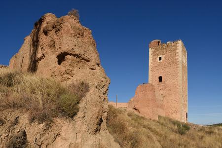 cristobal: Tower of San Cristobal,walls,  (S. XIV ),Daroca. Zaragoza province, Aragon, Spain