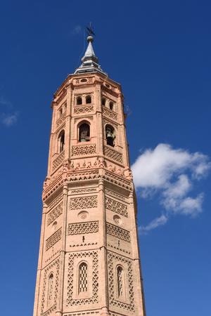 zaragoza: Bell tower of San Andres church (Moorish style). Calatayud, Zaragoza, Aragon, Spain, Europe Stock Photo