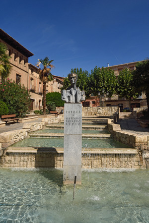 zaragoza: Square in the village of Daroca, Zaragoza province, Aragon, Spain Editorial