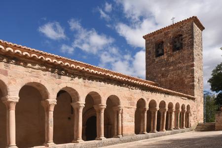 mancha: Romanesque church of San Salvador de Carabias, Siguenza,Guadalajara province,Castilla-La Mancha,Spain