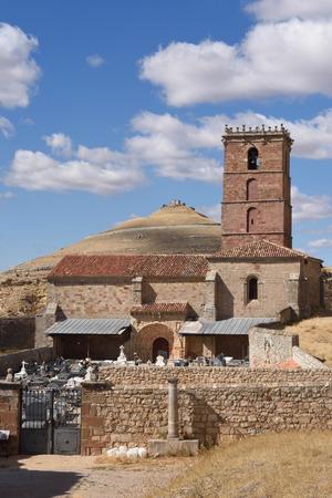 mancha: Santa Maria del Mar Church, Guadalajara province, Castilla-La Mancha, Spain. Stock Photo