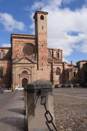 mancha: Cathedral and Main Square,  Siguenza, Guadalajara province, Castilla-La Mancha, Spain