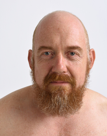 redheaded: portrait of a red-headed man