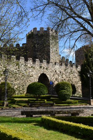 Gardens and Castle fortress Braganca, Tras-os-Montes, Portugal