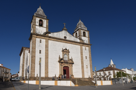 Santa Maria da Devesa church , Castelo de Vide village, Alentejo, Portugal Stock Photo