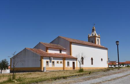 flor: church of  Flor da Rosa, Alentejo region, Portugal