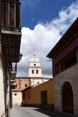 santa maria: Santa Maria church, Tordesillas, Duero Valley, Valladolid, Castilla y Leon, Spain Stock Photo