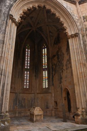 Detail of  Unfinished Chapels at Monastery of Santa Maria da Vitoria, Batalha Monastery, Centro region, Portugal