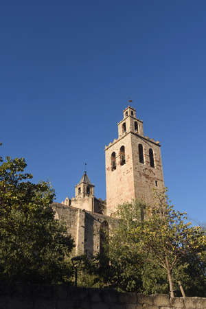 belltower: Monastery of Sant Cugat, Barcelona province,Catalonia,Spain Stock Photo