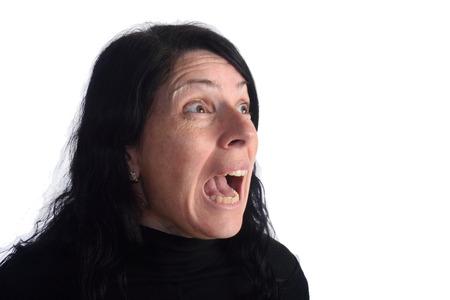 age 35 40 years: Screaming woman Stock Photo