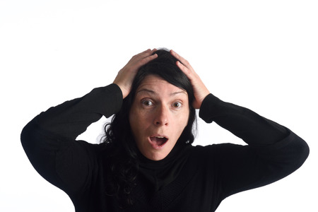 expressive face: Woman with expressive face Stock Photo