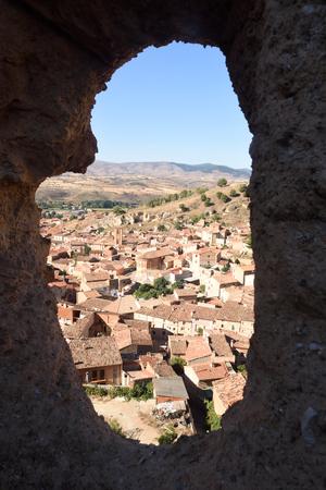 zaragoza: Overview of the medieval village from the Walls of Daroca, Zaragoza province, Aragon, Spain