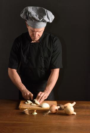 an onions: chef cortar cebollas