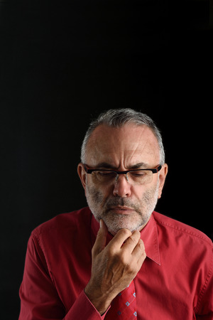 distressed: distressed man Stock Photo