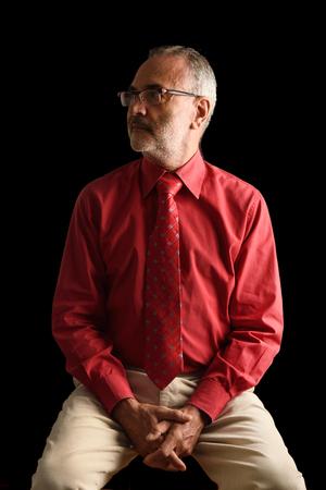 age 60: Portrait of an elegant mature man, Stock Photo