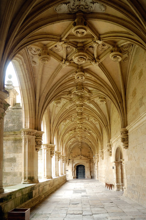 palencia province: Cloister of San Zoilo in Carrion de los Condes; Palencia province; Castilla y Leon; Spain;