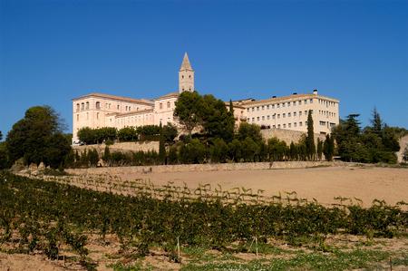 Monastery of Santa Maria de Bellpuig de les Avellanes, Os de Balaguer,Lleida province, Spain Stock Photo